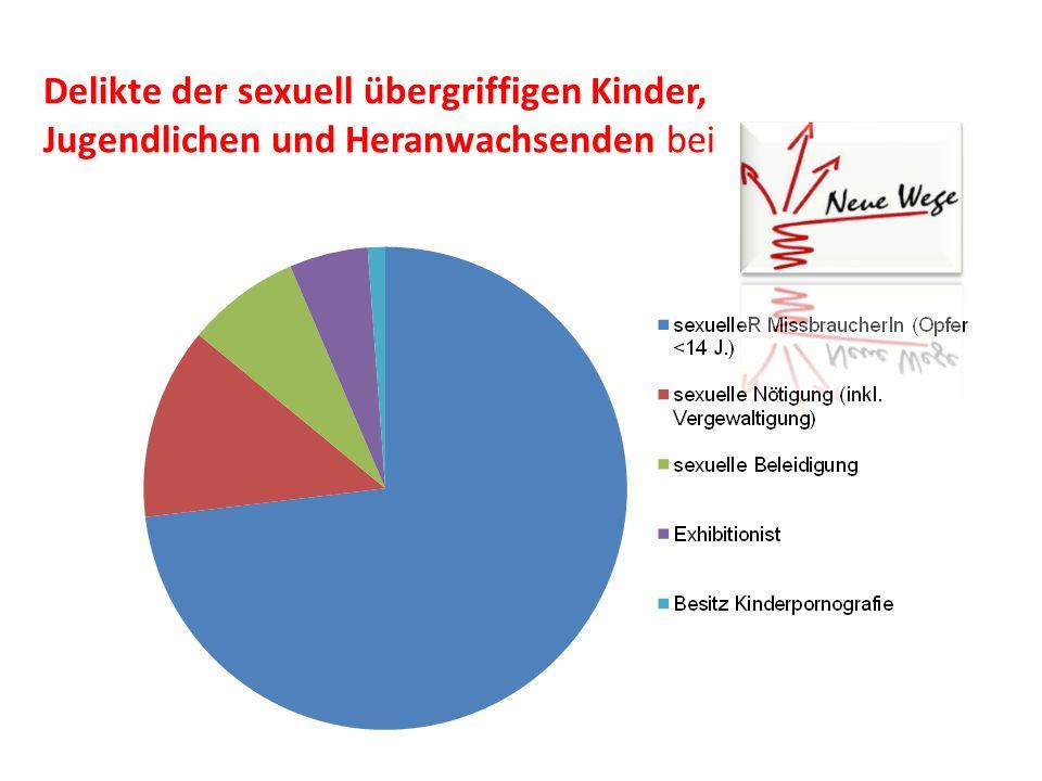 Delikte der sexuell übergriffigen Kinder, Jugendlichen und Heranwachsenden bei