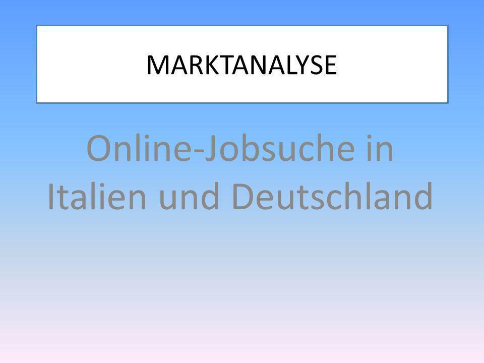 MARKTANALYSE Online-Jobsuche in Italien und Deutschland