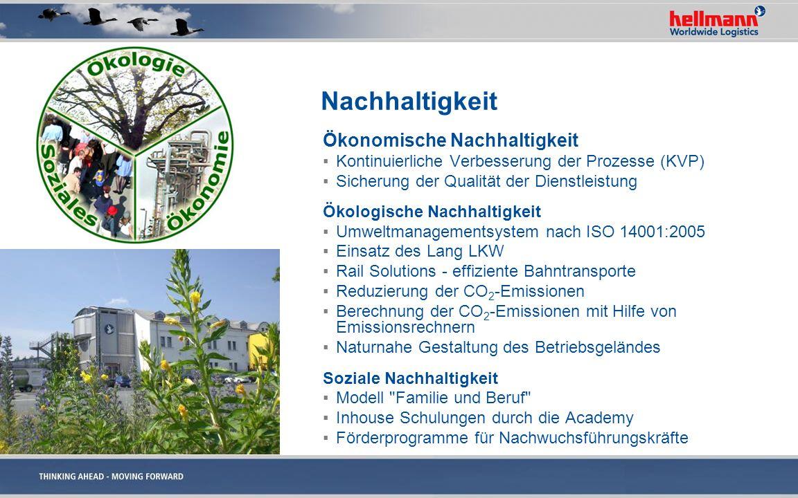 Nachhaltigkeit Ökonomische Nachhaltigkeit Kontinuierliche Verbesserung der Prozesse (KVP) Sicherung der Qualität der Dienstleistung Ökologische Nachha
