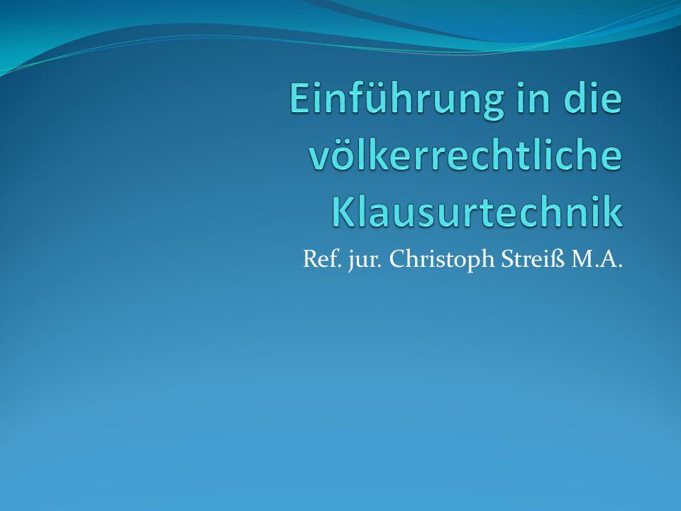 Ref. jur. Christoph Streiß M.A.