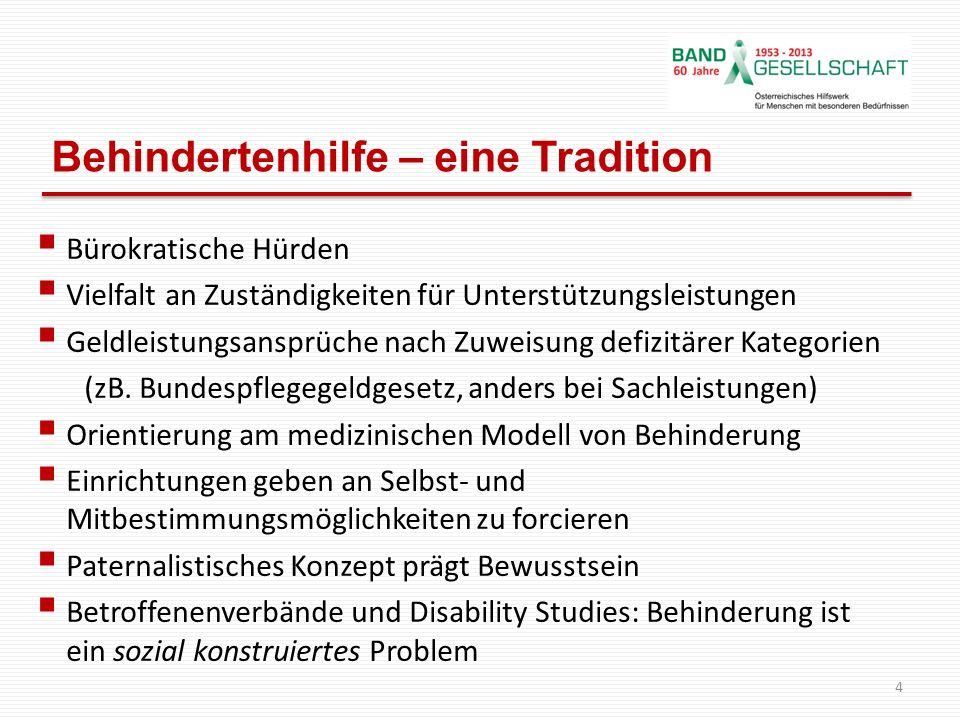 Zwei konkurrierende Modelle v.Behinderung 5 Medizinisches ModellSoziales Modell Grund f.