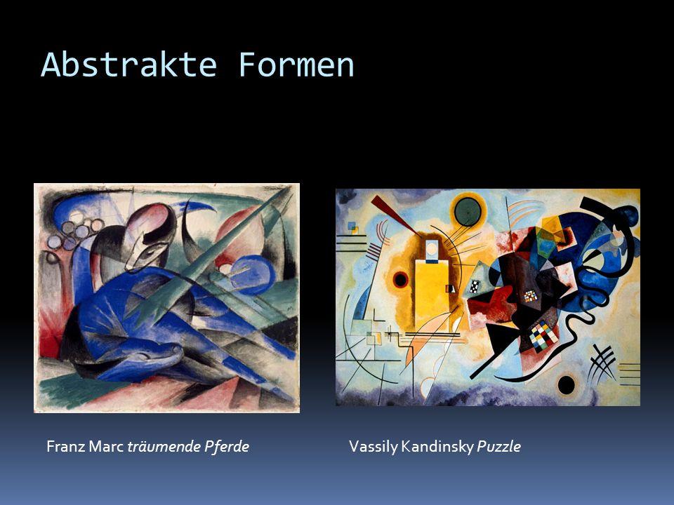 Abstrakte Formen Franz Marc träumende PferdeVassily Kandinsky Puzzle