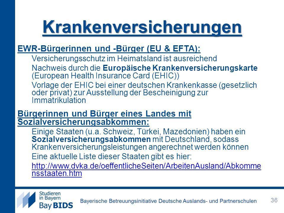 EWR-Bürgerinnen und -Bürger (EU & EFTA): Versicherungsschutz im Heimatsland ist ausreichend Nachweis durch die Europäische Krankenversicherungskarte (
