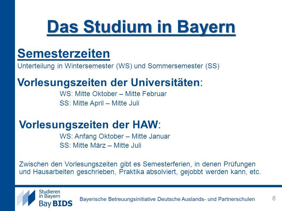 Universität oder HAW.
