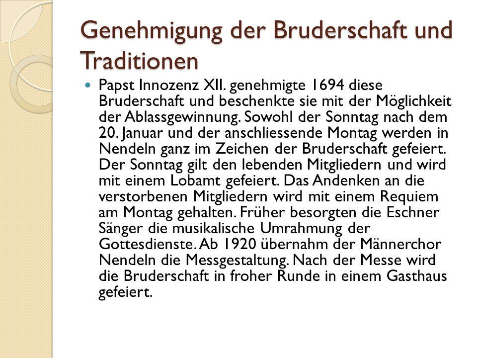 Genehmigung der Bruderschaft und Traditionen Papst Innozenz XII.