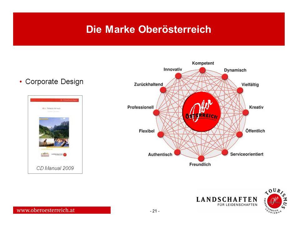 - 21 - Die Marke Oberösterreich Corporate Design CD Manual 2009