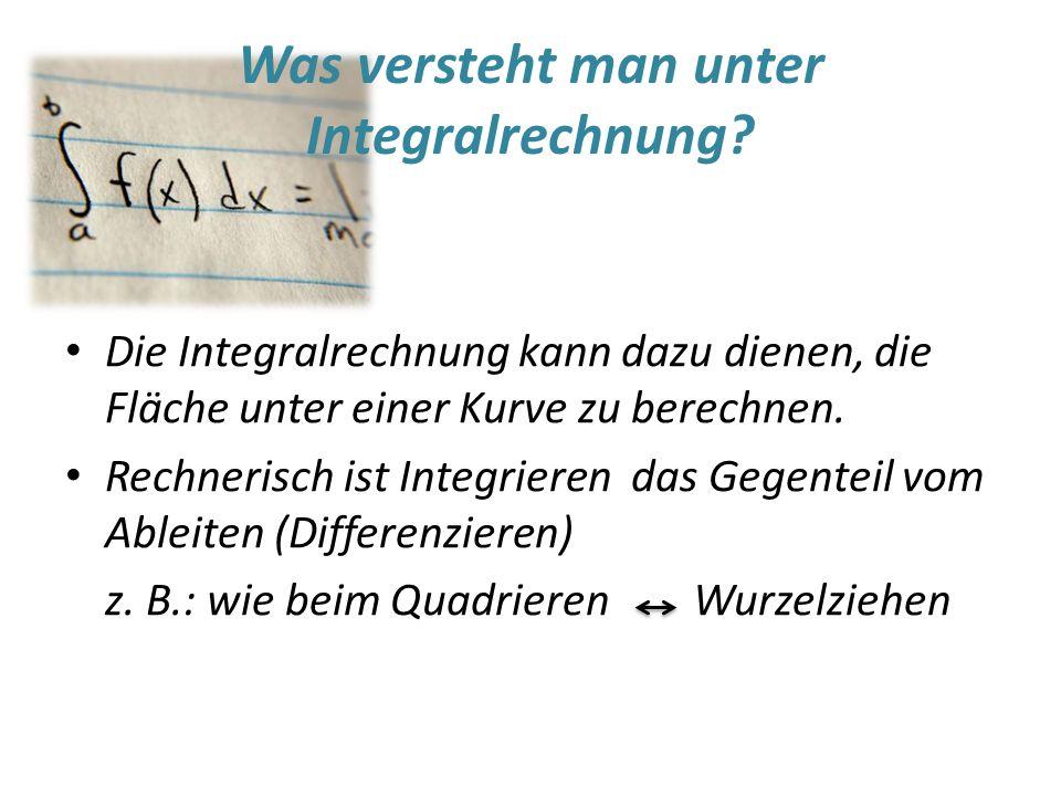 Was versteht man unter Integralrechnung.