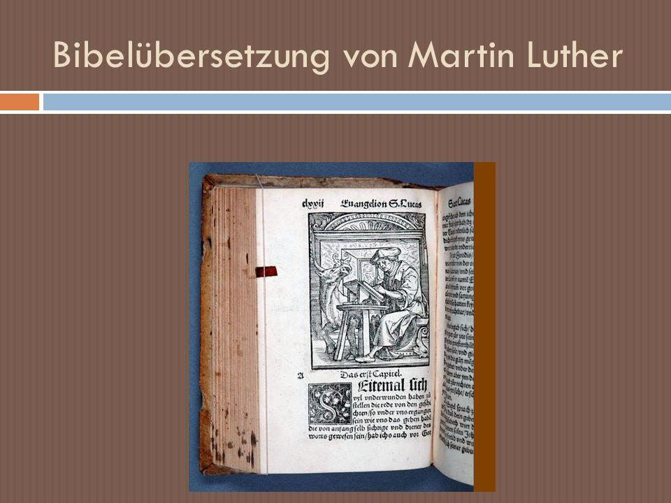 Bibelübersetzung von Martin Luther