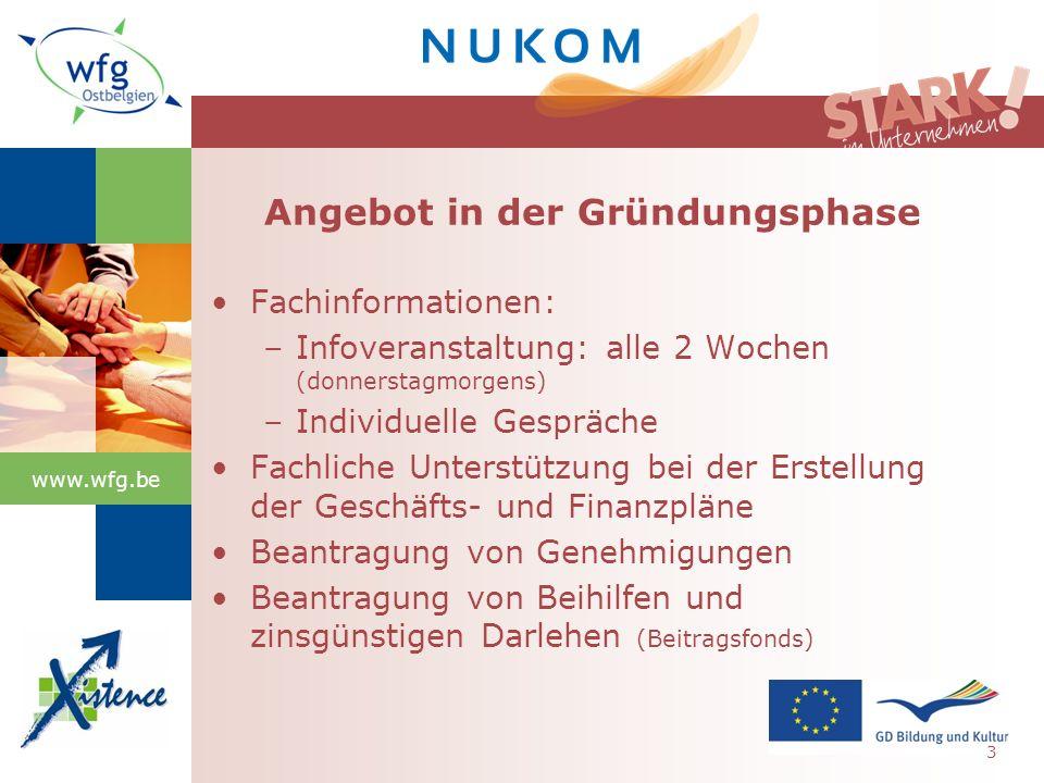 www.wfg.be Gründungen nach Branche 14