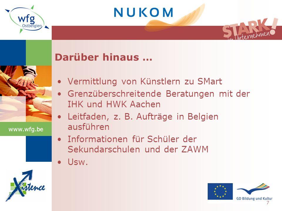 www.wfg.be Gründungen nach Ausbildung 18