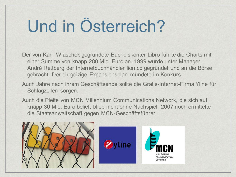 Und in Österreich? Der von Karl Wlaschek gegründete Buchdiskonter Libro führte die Charts mit einer Summe von knapp 280 Mio. Euro an. 1999 wurde unter
