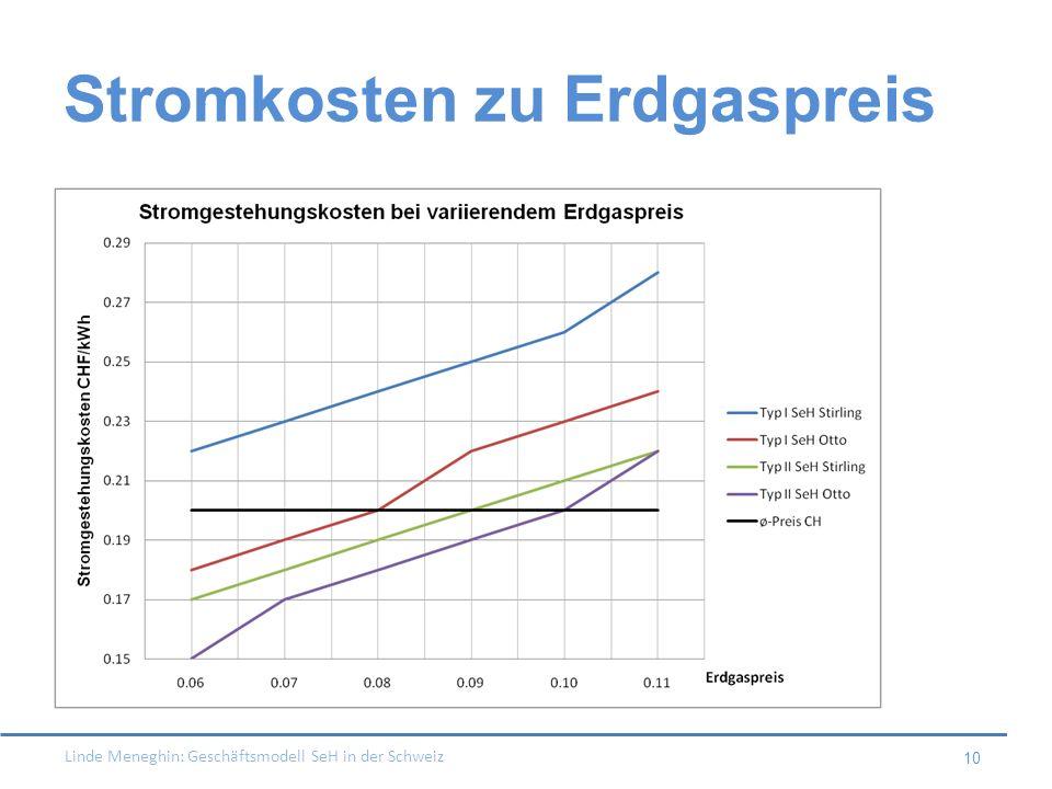 Linde Meneghin: Geschäftsmodell SeH in der Schweiz 10 Stromkosten zu Erdgaspreis