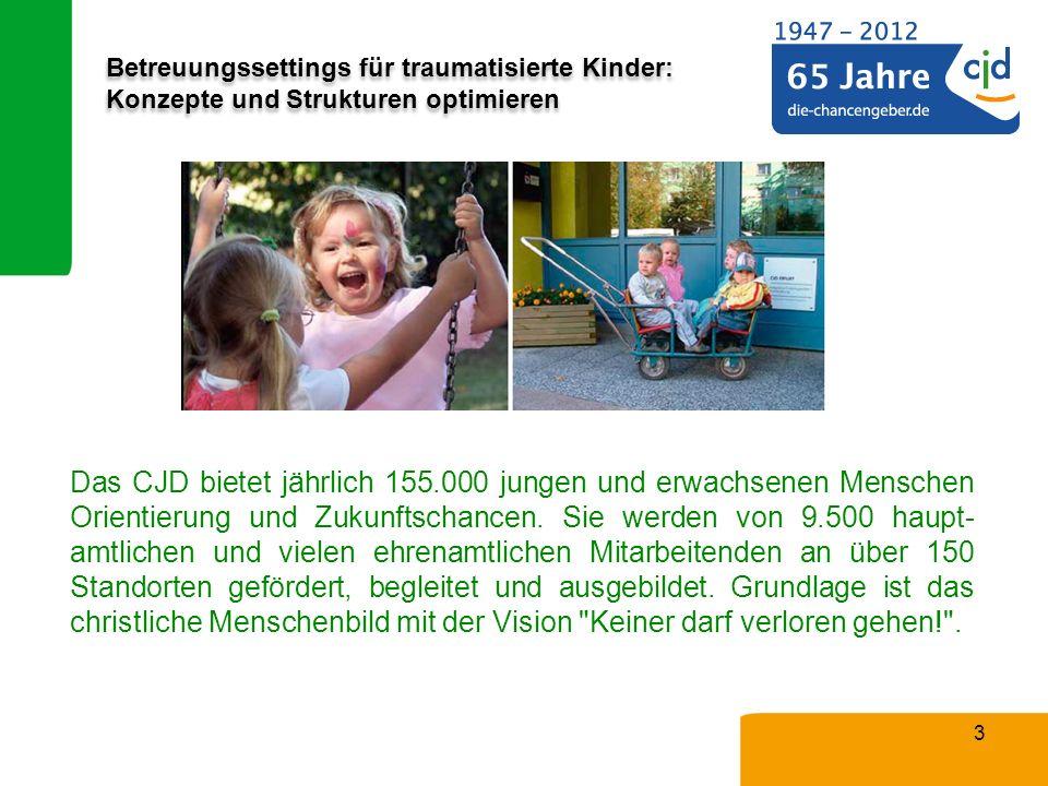 Betreuungssettings für traumatisierte Kinder: Konzepte und Strukturen optimieren 3 Das CJD bietet jährlich 155.000 jungen und erwachsenen Menschen Ori