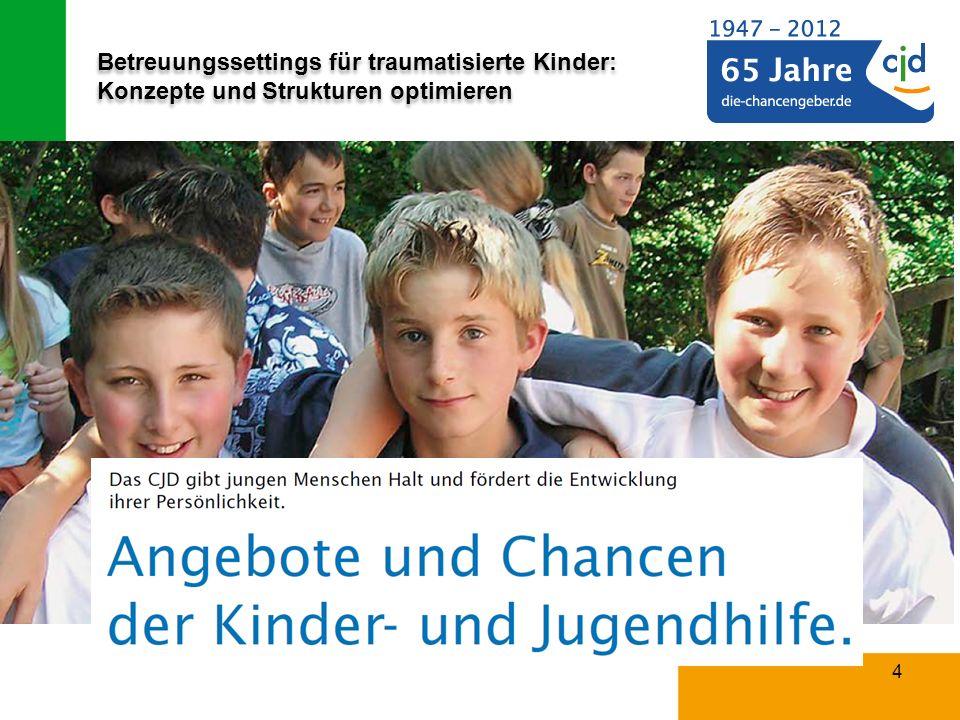 Betreuungssettings für traumatisierte Kinder: Konzepte und Strukturen optimieren 15 Bedeutung der Traumapädagogik für Institutionen das CJD .