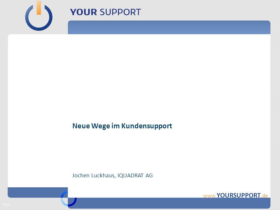 www. YOURSUPPORT.de Neue Wege im Kundensupport Jochen Luckhaus, IQUADRAT AG Start