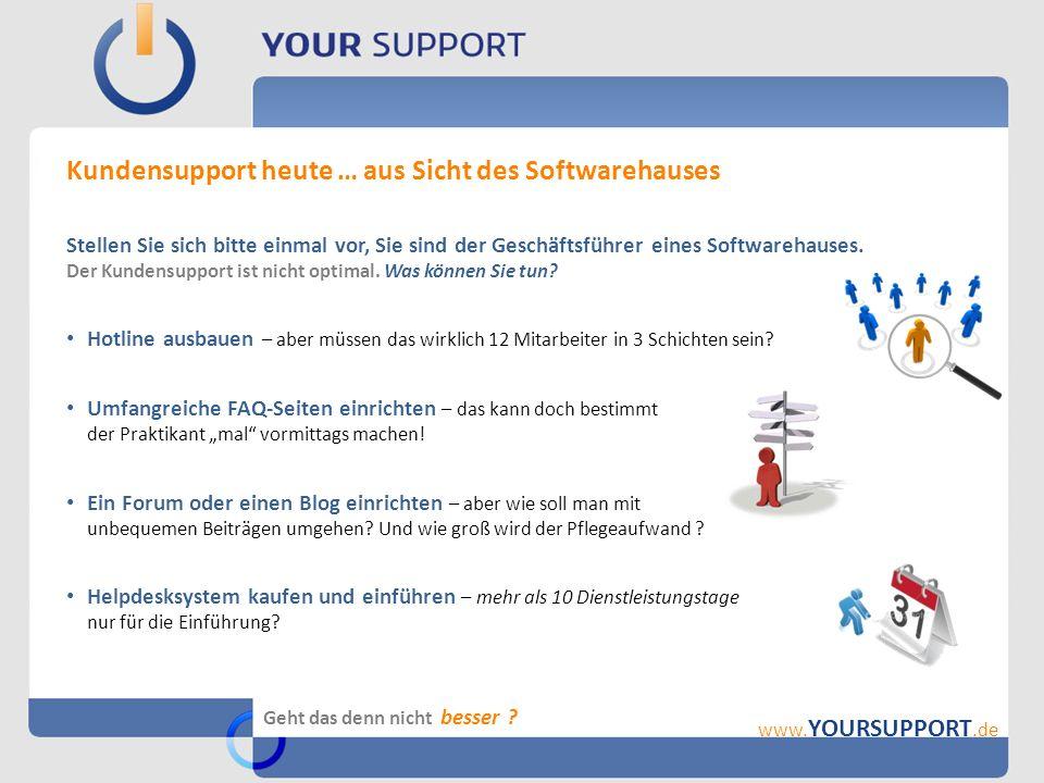 Herausragendes Merkmal: die Suchverfahren in YourSupport .
