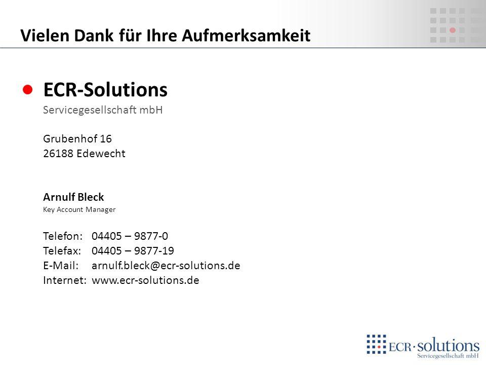 PROJEKT EUROCOMBI ECR-Solutions Servicegesellschaft mbH Grubenhof 16 26188 Edewecht Arnulf Bleck Key Account Manager Telefon:04405 – 9877-0 Telefax: 0