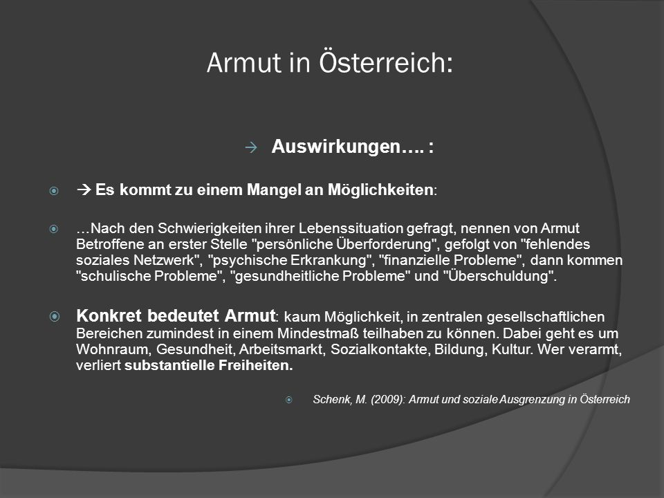 Armut in Österreich: aktuelle Zahlen Ländliche Armut: Jeder dritte armutsgefährdete Haushalt liegt in einer ländlichen Region.