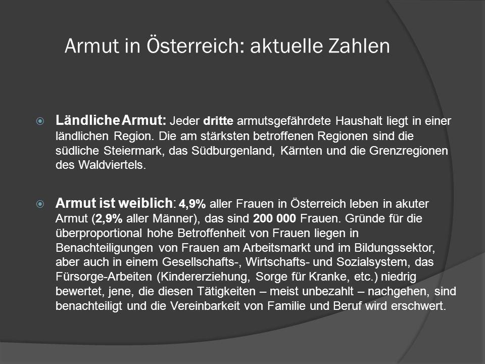 Armut in Österreich: aktuelle Zahlen Arm trotz Arbeit: 57 000 Menschen in Österreich arbeiten und haben trotzdem nicht genug zum Leben (1,6% der Erwerbstätigen).