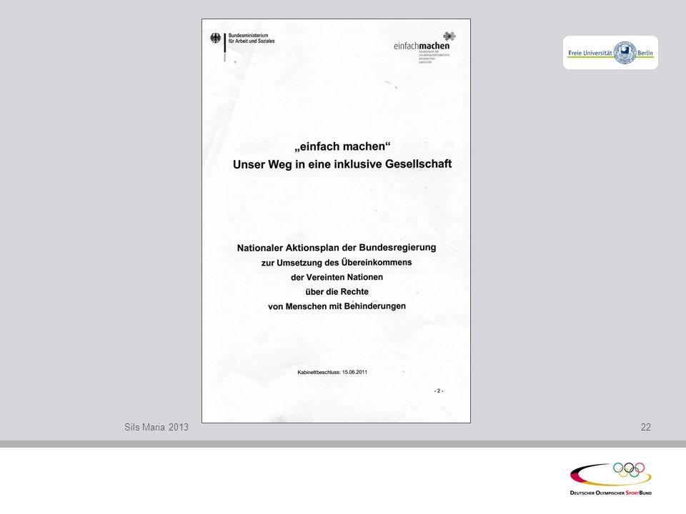 l Bewegung leben – Inklusion leben l Wege und Beiträge des organisierten Sports in Deutschland zu einer inklusiven Gesellschaft Gemeinsames Informationspapier von DOSB, DBS, SOD und DGS 1.