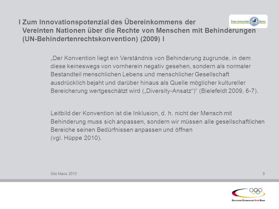 I Zum Innovationspotenzial des Übereinkommens der Vereinten Nationen über die Rechte von Menschen mit Behinderungen (UN-Behindertenrechtskonvention) (