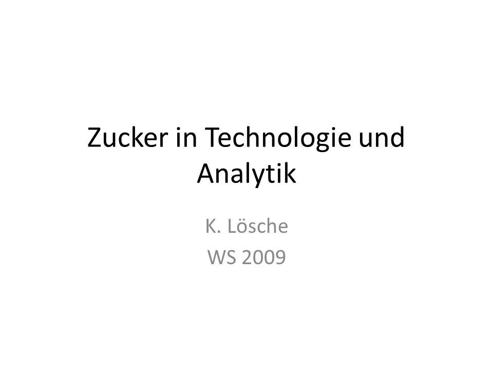 Zucker in Technologie und Analytik K. Lösche WS 2009