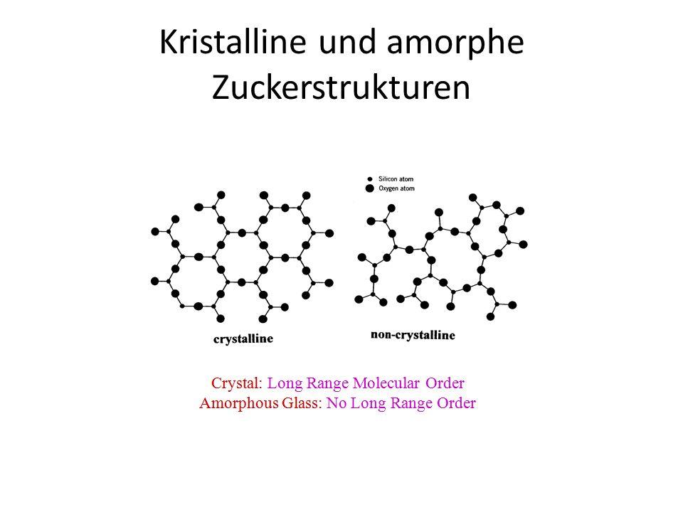 Kristalline und amorphe Zuckerstrukturen