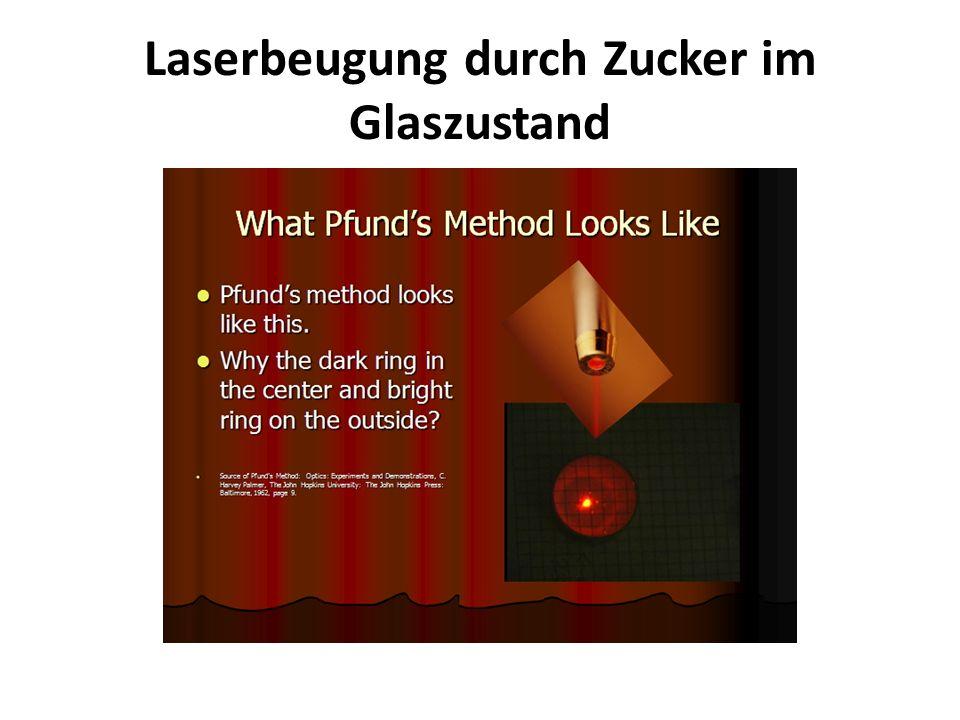 Laserbeugung durch Zucker im Glaszustand