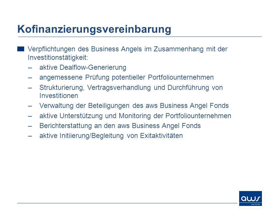 Verpflichtungen des Business Angels im Zusammenhang mit der Investitionstätigkeit: –aktive Dealflow-Generierung –angemessene Prüfung potentieller Port