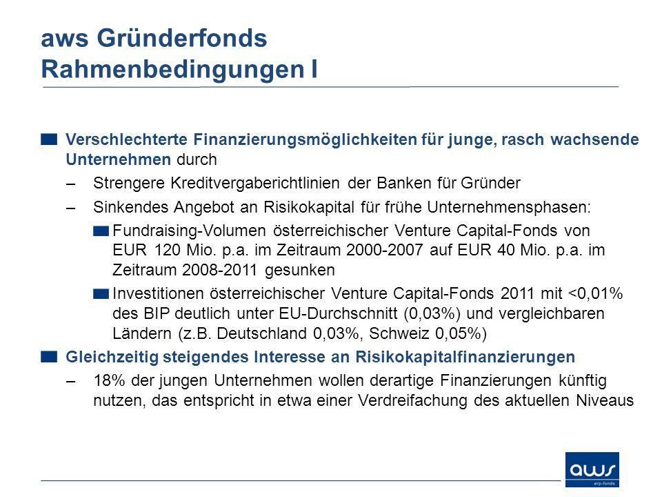 Verschlechterte Finanzierungsmöglichkeiten für junge, rasch wachsende Unternehmen durch –Strengere Kreditvergaberichtlinien der Banken für Gründer –Si