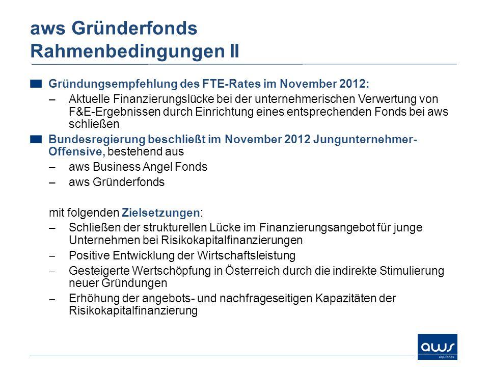 Gründungsempfehlung des FTE-Rates im November 2012: –Aktuelle Finanzierungslücke bei der unternehmerischen Verwertung von F&E-Ergebnissen durch Einric