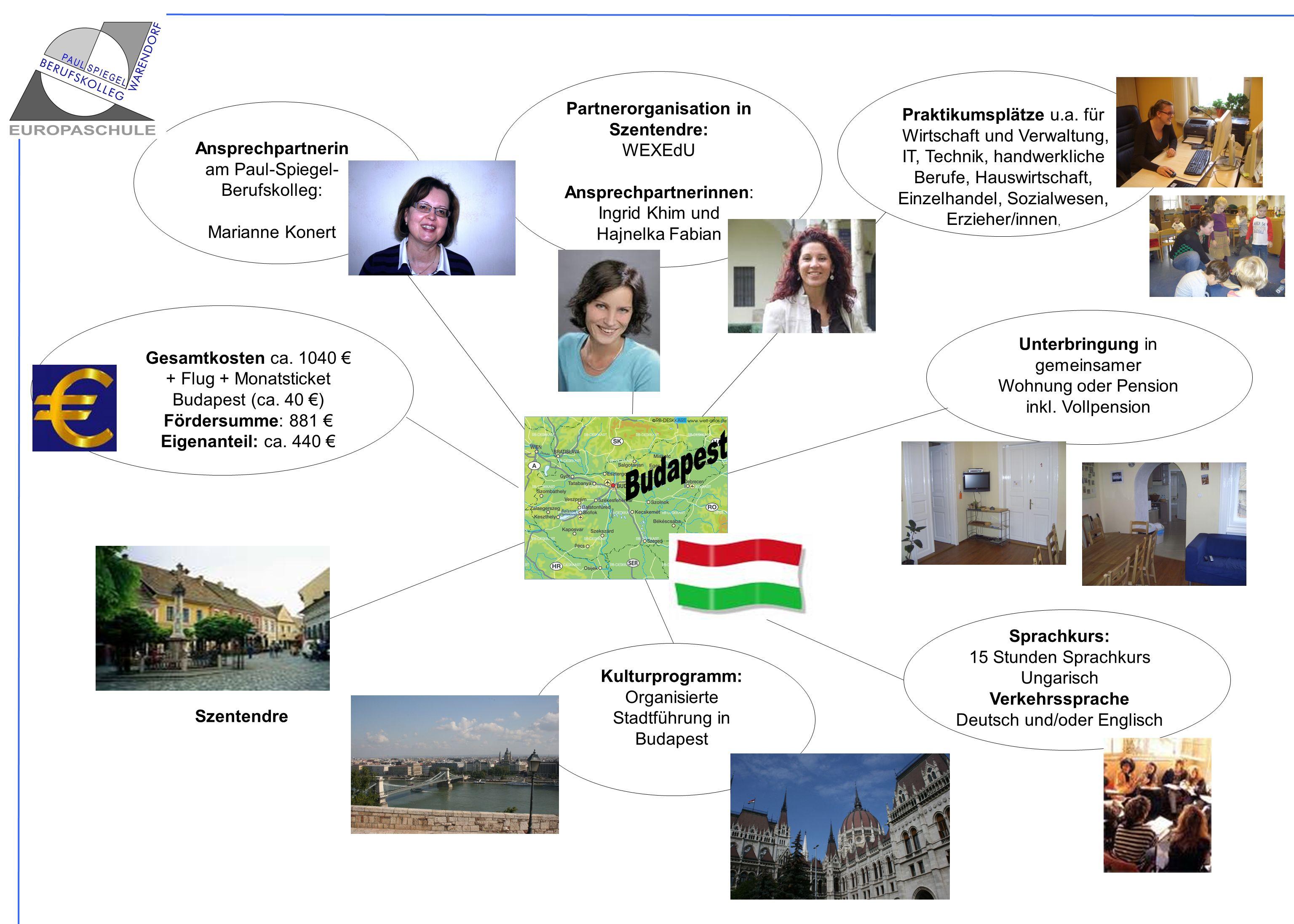 Sprachkurs: 15 Stunden Sprachkurs Ungarisch Verkehrssprache Deutsch und/oder Englisch Praktikumsplätze u.a. für Wirtschaft und Verwaltung, IT, Technik
