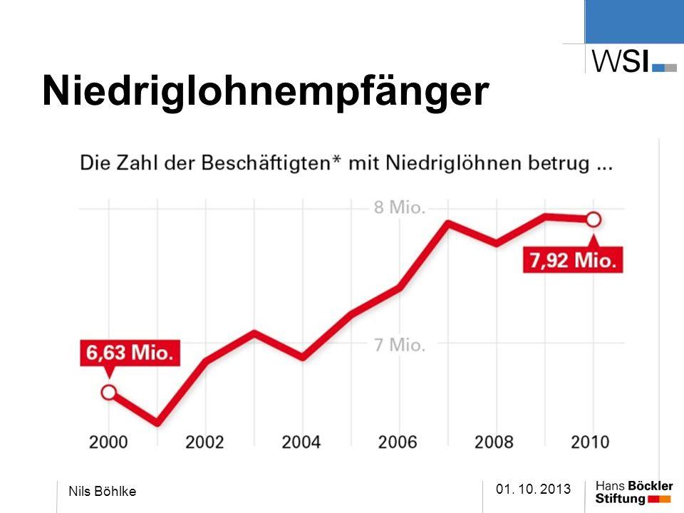 Niedriglohnempfänger 01. 10. 2013 Nils Böhlke