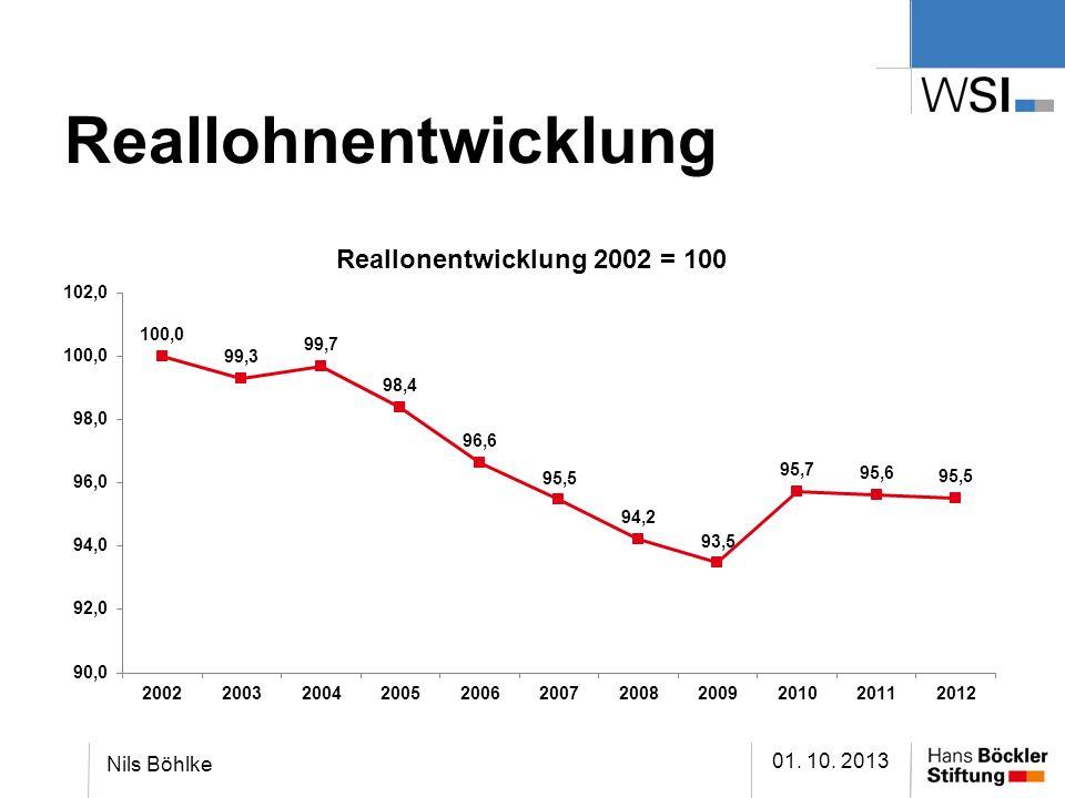 Reallohnentwicklung 01. 10. 2013 Nils Böhlke