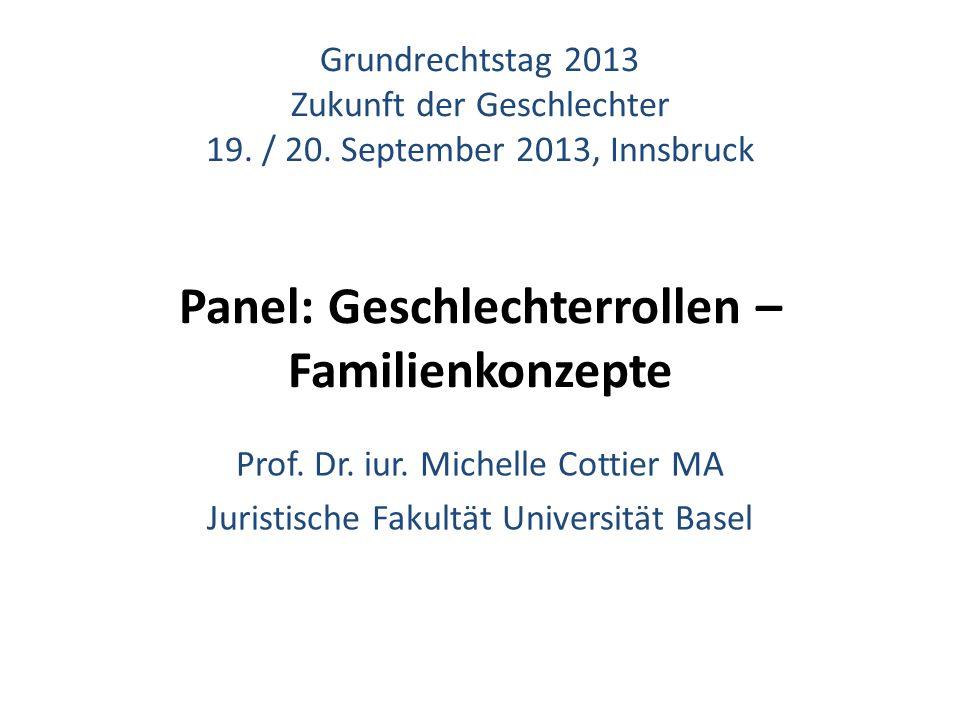 Grundrechtstag 2013 Zukunft der Geschlechter 19. / 20.