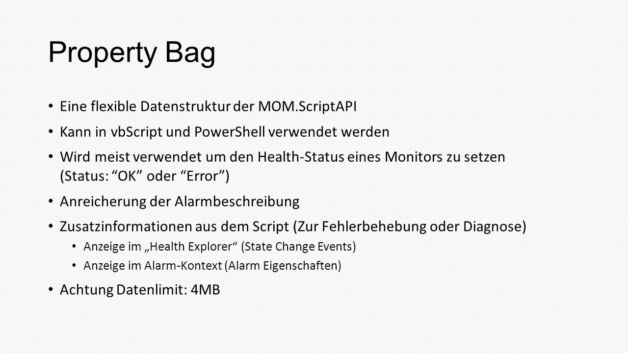 Demo: Property Bag