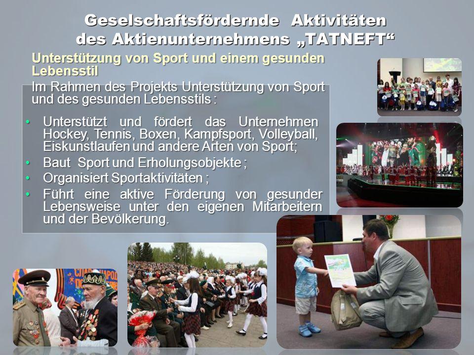 Unterstützung von Sport und einem gesunden Lebensstil Im Rahmen des Projekts Unterstützung von Sport und des gesunden Lebensstils : Unterstützt und fö
