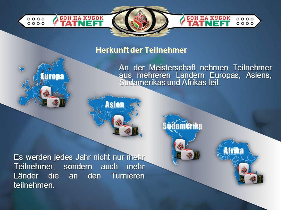 Herkunft der Teilnehmer An der Meisterschaft nehmen Teilnehmer aus mehreren Ländern Europas, Asiens, Südamerikas und Afrikas teil. Es werden jedes Jah