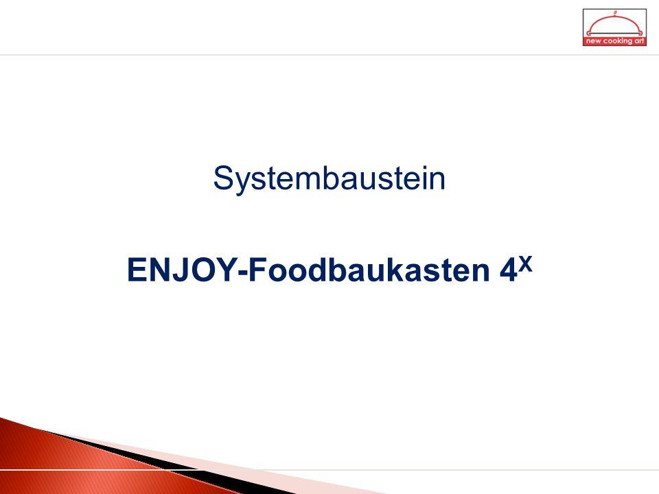 Systembaustein ENJOY-Foodbaukasten 4 X