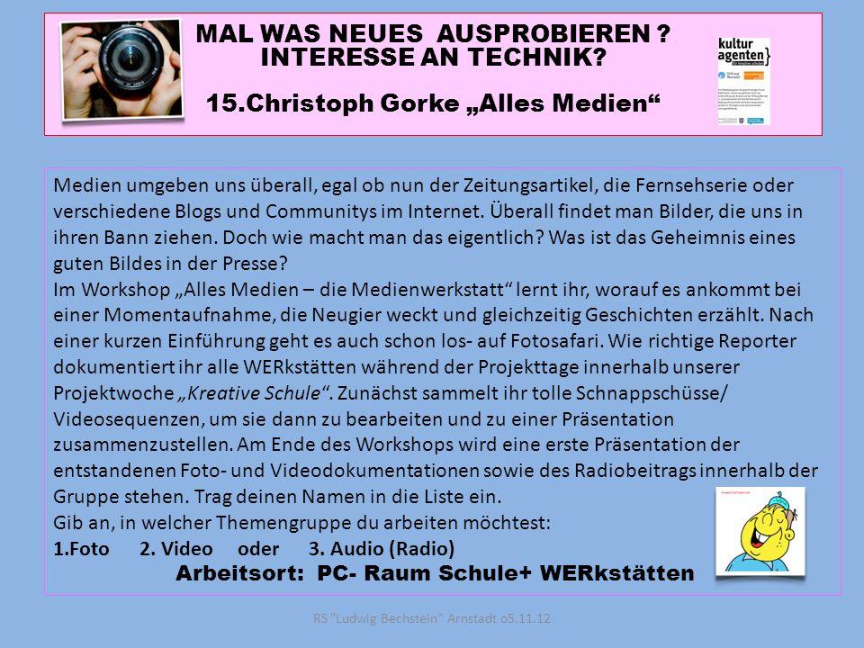 RS Ludwig Bechstein Arnstadt o5.11.12 MAL WAS NEUES AUSPROBIEREN .