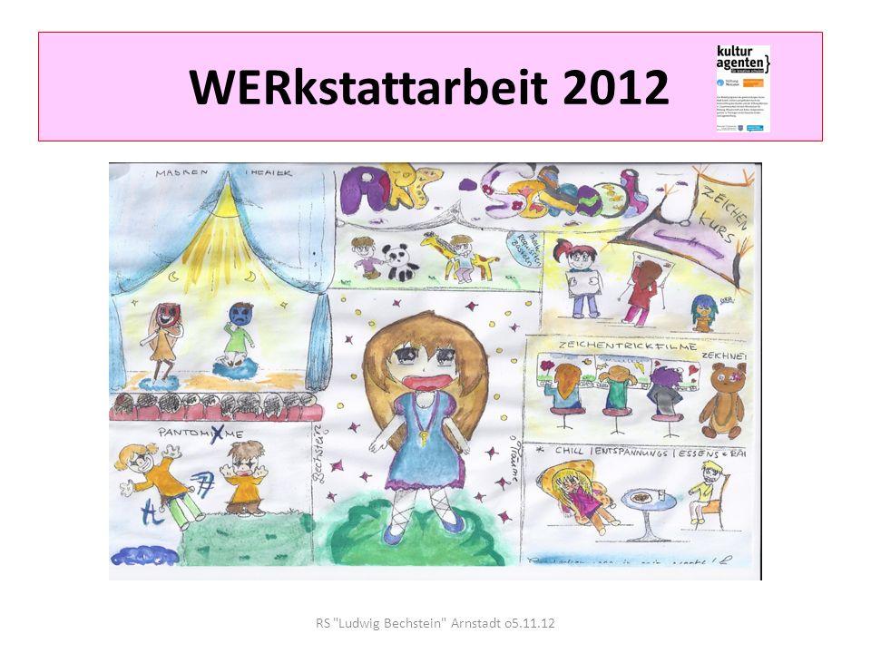 WERkstattarbeit 2012 1.Jeder Schüler unserer Schule wählt sich entsprechend seiner Neigungen / Wünsche /im Ansatz vorhandenen Talente in eine WERkstatt ein.