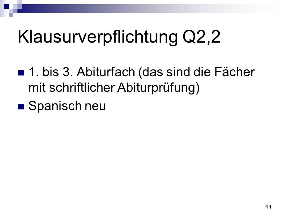 11 Klausurverpflichtung Q2,2 1. bis 3.