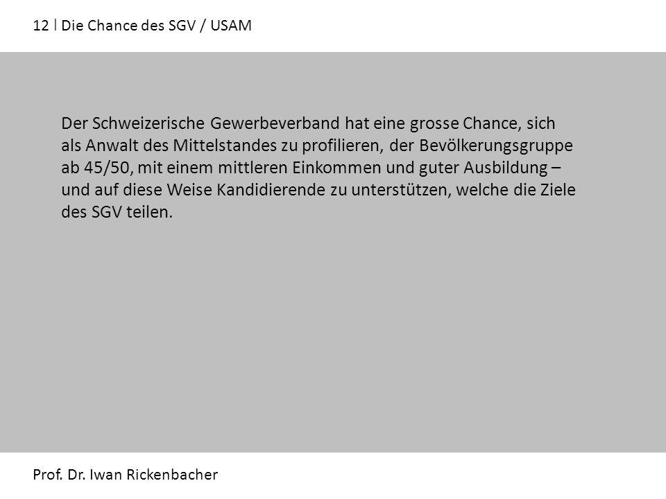 12 ǀ Die Chance des SGV / USAM Prof. Dr.