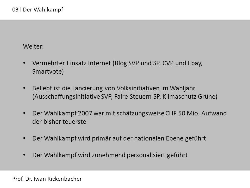 03 ǀ Der Wahlkampf Prof. Dr.
