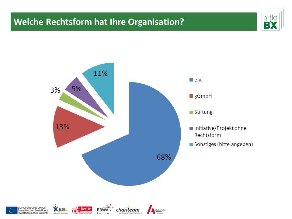 Welche Rechtsform hat Ihre Organisation?