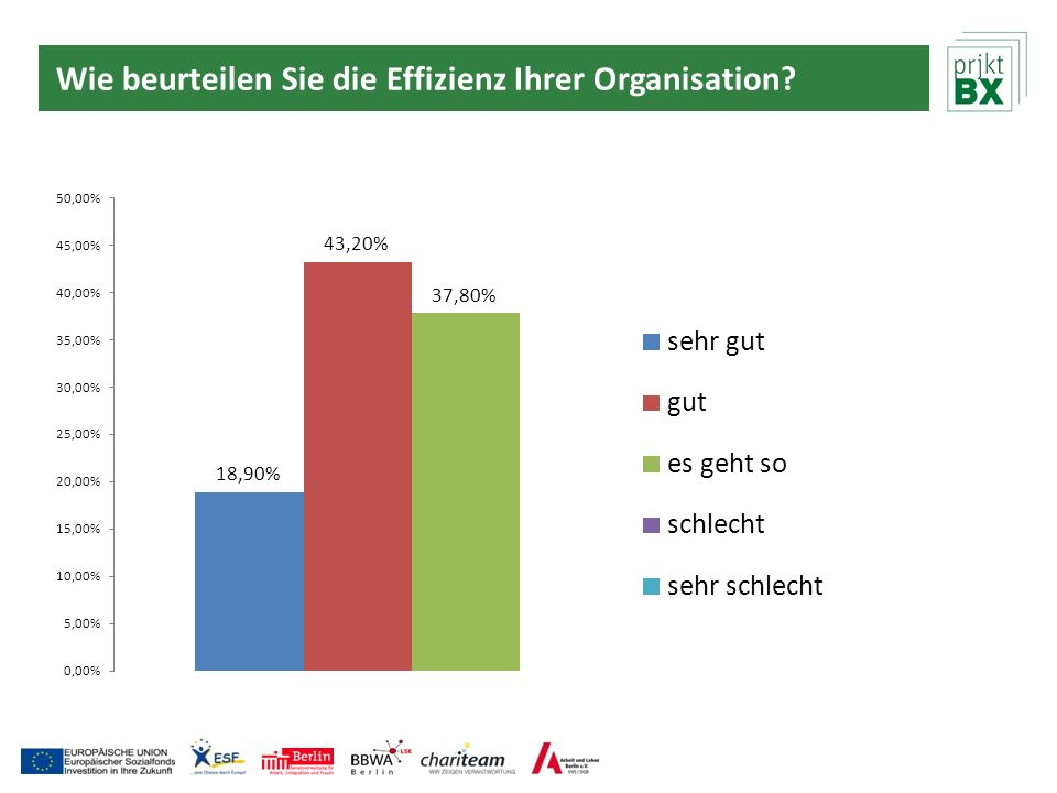 Wie beurteilen Sie die Effizienz Ihrer Organisation?