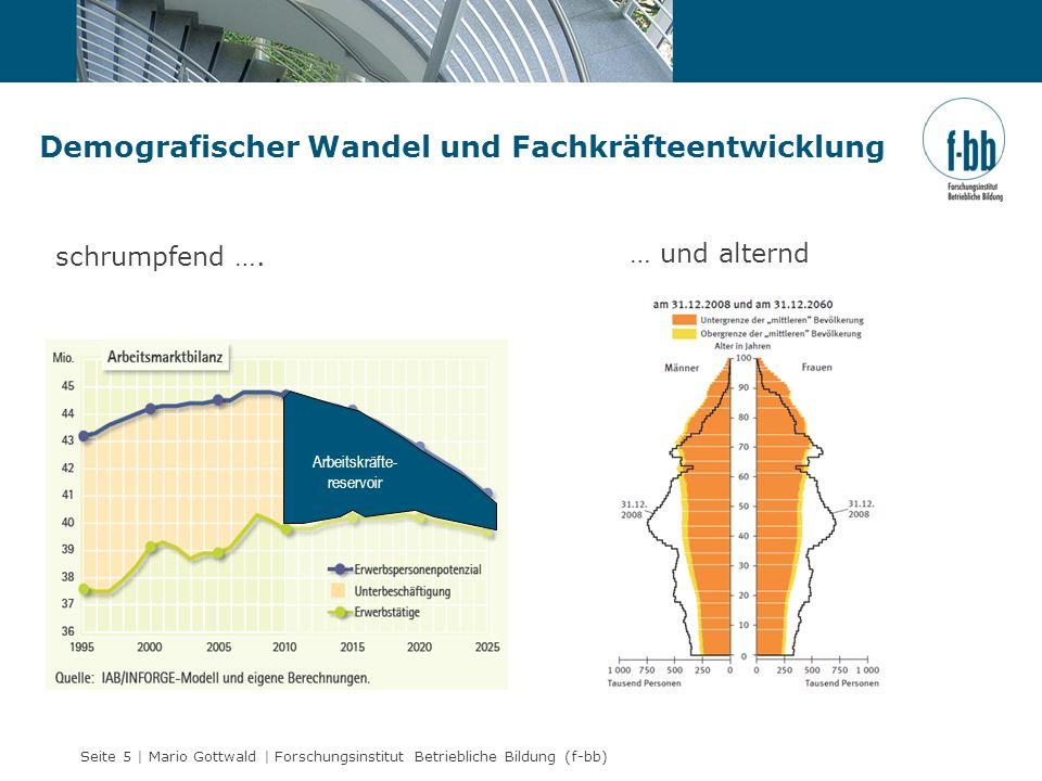 Seite 5 | Mario Gottwald | Forschungsinstitut Betriebliche Bildung (f-bb) Demografischer Wandel und Fachkräfteentwicklung Arbeitskräfte- reservoir sch