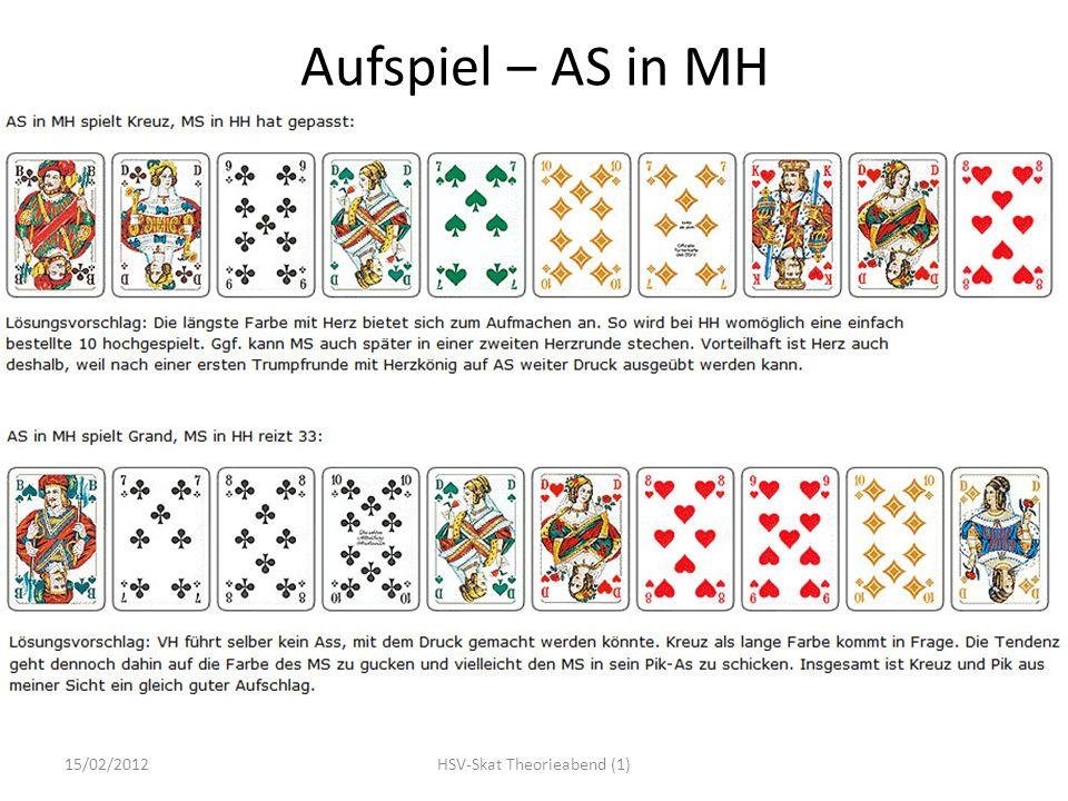 Aufspiel – AS in MH 15/02/2012HSV-Skat Theorieabend (1)