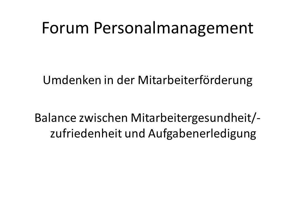 Forum Personalmanagement: ein Skala an Themen