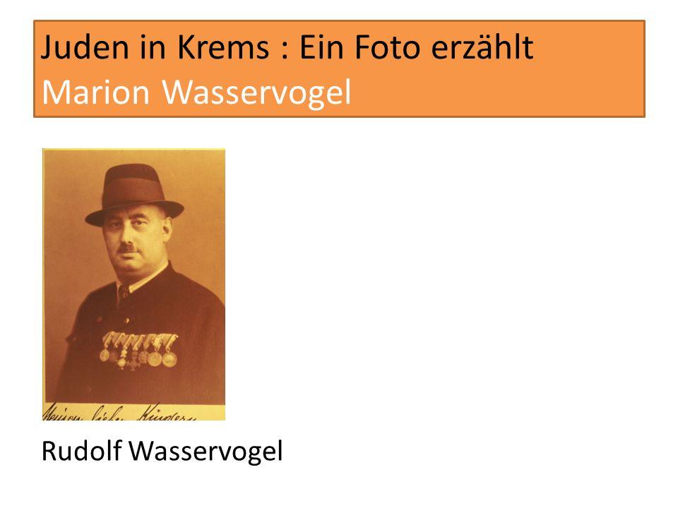 Juden in Krems : Ein Foto erzählt Marion Wasservogel Vater Wasservogel (abgeschnitten), Marion Wasservogel mit Fritz Karpfen ihrem späteren Ehemann und die Geschwister Robert und Alice Kohn